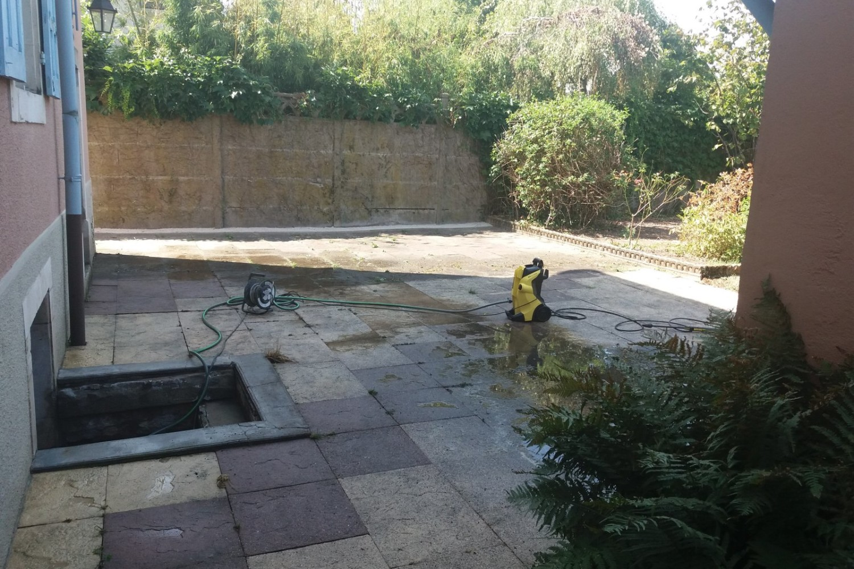 Nettoyer Sa Terrasse En Beton nettoyage dalle terrasse au karcher (belfort) - romary paysage